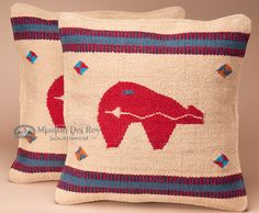 Bring your southwest decor to life with this pair of fetish bear pillow covers. Perfect for adding that extra touch of authentic southwest style anywhere in your home.- Mission Del Rey Southwest