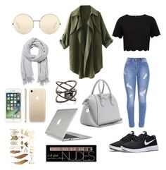 """Untitled #10"" by ele-duperray on Polyvore featuring Ted Baker, NIKE, Witchery, Eva Fehren, Victoria Beckham, Charlotte Russe, Givenchy and Speck"