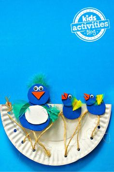 Momma and Baby Birds Paper Plate Craft