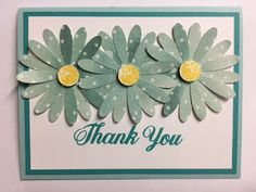 My Creative Corner!: Daisy Delight, Delightful Daisy, Thank You Card, Stampin' Up!, Rubber Stamping, Handmade Cards