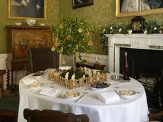 The Breakfast Room at Fairfax house, prepared for a morning meal.