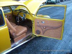 "VW Beetle interior: new carpets and mats real leather seats, door cards, rear shelf ""Alcantara"" headlining custom design boot, door cards, rear"