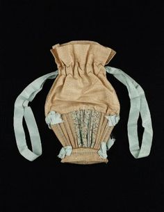 Drawstring bag American, 1800–30 USA DIMENSIONS 27.6 x 17 cm (10 7/8 x 6 11/16 in. ) MEDIUM OR TECHNIQUE Silk, animal fiber CLASSIFICATION C...