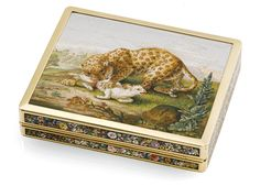 Reverse of Micromosaic Snuff Box. - Photo Courtesy of Sotheby's.
