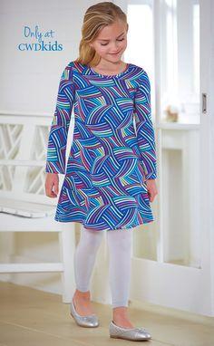 From CWDkids: Rainbow Print Scuba Dress