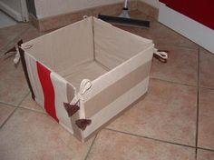 Boîte de rangement tissu,carton…