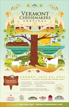 2011 Vermont Cheesemakers' Festival Poster. Illustrator — Amy Ruppel