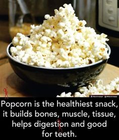 Low Calorie Snacks, Healthy Snacks, Healthy Recipes, Plant Projects, Raw Materials, Popcorn, Snack Recipes, Health Fitness, Ethnic Recipes