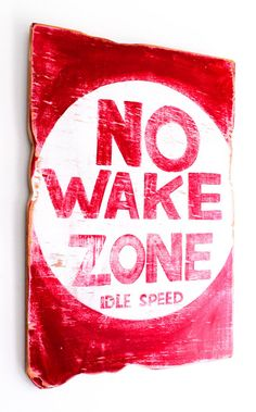 No Wake Zone Beach Sign Hand Painted on Reclaimed Distressed Wood Coastal Beach Baby Nursery Surf Baby Nursery Kids Room Beach House Decor