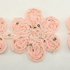 Pink Chiffon Lace Trim Flower Trim Flower Floral Lace Trim Shabby lace trim wedding fabric Millinery accent motif by the yard for baby headband hair accessories dress bridal accessories by Annielov trim 54 *** Continue to the product at the image link.