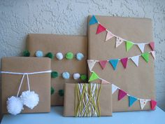 Gift Wrap Ideas - Mas ideas para envolver con kraft