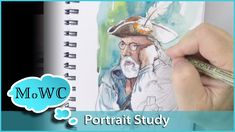 A portrait study in my sketchbook for what will hopefully be a larger finished painting. This study is in a line and wash style using both pencil and ink. Su...