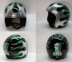 Flake and Candy painted helmets - OLD SCHOOL HELMETS