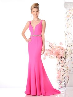 Princess scoop neckline is lace and extends to the back of the gown. The pleated plunging sweetheart is met with a pleated waistline that cascades into the pleated chiffon skirt. The skirt flows to ..
