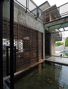 Image 24 of 34 from gallery of House at Glenhill Saujana / Seshan Design. Photograph by Rupajiwa Studio Chinese Interior, Asian Interior, Metal Shutters, Grill Door Design, H Design, Facade Architecture, A Boutique, Boutique Design, Building Design