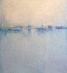 "Saatchi Online Artist: Janise Yntema; Encaustic Wax, Painting ""Diffused Light II"""