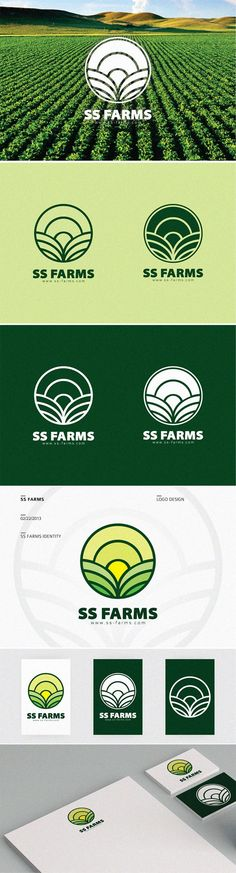 Agriculture Branding by Firman Suci Ananda , via Behance - love the reverse stroke logos Design Grafico, Logo Restaurant, Graphic Design Logo, Agriculture Logo, Tea Logo, Graphic Design Inspiration, Corporate Design, Organic Logo Inspiration, Library Logo