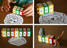 Letters and words in duplo