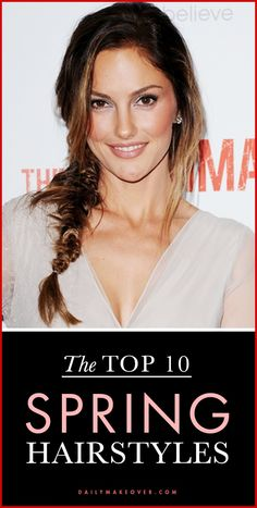 Top 10 Hairstyles for Spring | Love Minka Kelly's casual fishtail braid!