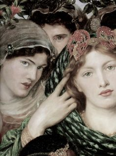 The Beloved (detail), Dante Gabriel Rossetti, 1865