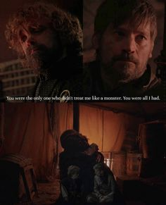 I loved their relationship. ❤️❤️❤️❤️❤️❤️❤️ Like Tyrion said, everyone hated him and treated him like a monster, but Jaime loved him and was there for Tyrion their whole lives. Game Of Thrones Jaime, Game Of Thrones Series, Game Of Thrones Quotes, Valar Dohaeris, Valar Morghulis, Winter Is Here, Winter Is Coming, Jaime Lannister Quotes, Jaime And Brienne