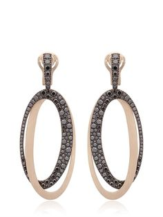 ANTONINI - BLACK & WHITE EARRINGS - LUISAVIAROMA - LUXURY SHOPPING WORLDWIDE SHIPPING - FLORENCE