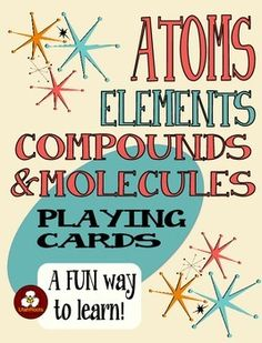 Atoms Elements Compounds And Molecules Card Game for Chemistry