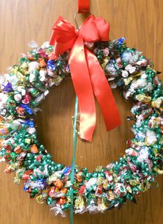 how to make wreaths with candy | Candy Wreath