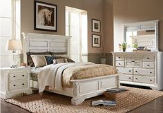 Shop for a Claymore Park Off-White 8 Pc King Panel Bedroom at Rooms To Go. Find King Bedroom Sets that will look great in your home and complement the rest of your furniture.