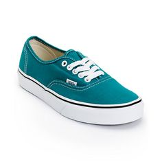 Keep your look classic with the style of the Vans Authentic shoe for girls in the Deep Lake Teal colorway. With a durable canvas upper and a vulcanized outsole with the classic Vans Waffle tread, these timeless Authentic shoes from Vans are a sure way to add style to just about any outfit. The sizes shown are in women's.Find your Vans shoe size. Check out all   Green Vans here.
