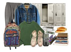 """""""school dayz"""" by truereligion-xoxo ❤ liked on Polyvore featuring Marc by Marc Jacobs, Converse and Miss Bibi"""