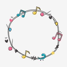 Music Notes Background, App Background, Lettering Tutorial, Hand Lettering, Fireworks Music, Music Border, Picture Wreath, Doodle Frames, Sheet Music Art
