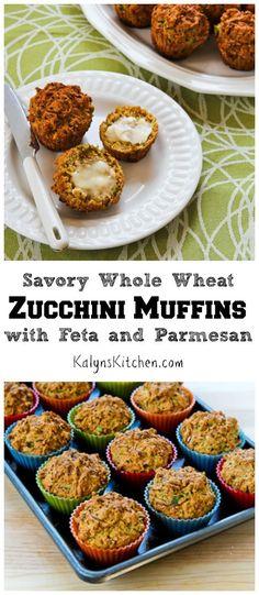 Savory Whole Wheat Zucchini Muffins With Feta, Parmesan, And Green ...