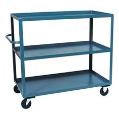 Stock Cart, 60x24 In by Jamco. $557.91. Stock Cart, Load Capacity 3000 lb., Overall Length 48 In., Overall Width 24 In., Overall Height 39 In., Number of Shelves 4, Caster Size 6 In., Caster Type 2 Rigid, 2 Swivel, Capacity per Shelf 750 lb.