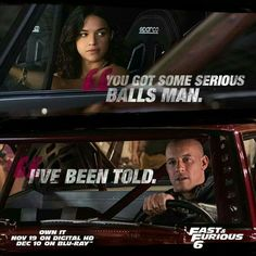 Letty and Dom. Fast and Furious 6 Movie Fast And Furious, Furious Movie, Celebrity Photos, Celebrity News, Dom And Letty, Dominic Toretto, Game Of Thrones, Rip Paul Walker, Ludacris