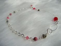 Wire wrapped sterling silver anklet ~ by Intentional