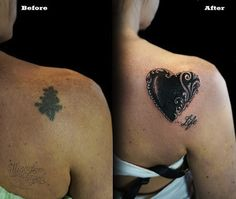 heart by Miguel Angel | cover up tattoos | egodesigns