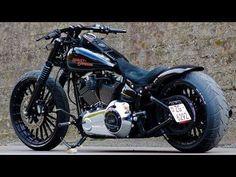 Harley-Davidson Custom FXSB Breakout Slow Shooting - YouTube #harleydavidsontrike #harleydavidsonsporster