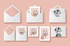 Mockup - Greeting Cards & Envelope by blackpattern on @creativemarket