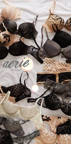 204128e567 Understated hues take center stage with extra special details on Aerie s  limited-edition bras! Lingerie FineBra LingerieLingerie SleepwearPretty ...