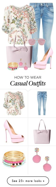 """Casual"" by alice-fortuna on Polyvore featuring rag & bone, Billie & Blossom, Kate Spade, Casadei, Robert Rose, Miss Selfridge and Boohoo"