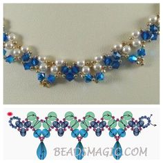 """Schema - 2 needle weave ~ Seed Bead Tutorials """"Seed bead jewelry Schema - 2 needle weave ~ Seed Bead Tutorials Discovred by : Linda Linebaugh"""" Seed Bead Necklace, Seed Bead Jewelry, Bead Jewellery, Diy Necklace Patterns, Beaded Bracelet Patterns, Beading Patterns, Seed Bead Bracelets Tutorials, Beaded Bracelets Tutorial, Beads Tutorial"""