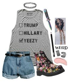 """""""How To Wear Floral Docs 2/5"""" by weirdestgirlever ❤ liked on Polyvore featuring Retrò, BillyTheTree, NYX and NARS Cosmetics"""