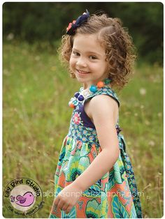 Spring dress - 1 to 10 years - shirred back, waist ties, cross back, perfect flower girl dress, shirred back - PDF Pattern and Instructions