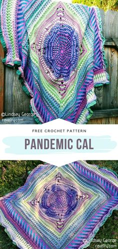 How to Crochet Pandemic CAL - - These free patterns for Striking Spring CAL Blankets will blow your mind! Seriously, they really are that amazing. It is hard to find the words to. Crochet Afghans, Crochet Squares Afghan, Easy Crochet Blanket, Crochet Stitches Patterns, Knit Crochet, Crochet Blankets, Granny Squares, Free Crochet Blanket Patterns, Crochet Quilt