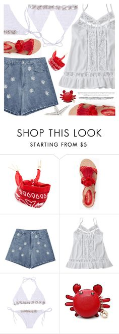 """Beach Party"" by pokadoll ❤ liked on Polyvore featuring Forever 21 and Kate Spade"