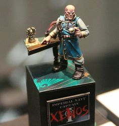 Warhammer 40k | Genestealer Cult | Converted Imperial Navy Captain #warhammer #40k #40000 #wh40k #wh40000 #warhammer40k #gw #gamesworkshop #wellofeternity #miniatures #wargaming #hobby #tabletop