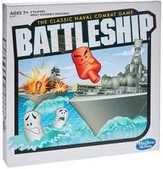 Hasbro Gaming Battleship The Classic Naval Combat Game 2016 for sale online Ship Games, Games To Play, Learning Games, Math Games, Kids Learning, Electronic Battleship, Battleship Board, Fleet Of Ships, Pianos
