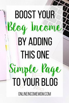 Boost your Blog Income by Adding One Simple Page - http://onlineincomemom.com/build-a-resources-page/