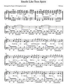 Smells Like Teen Spirit - Nirvana free sheet music